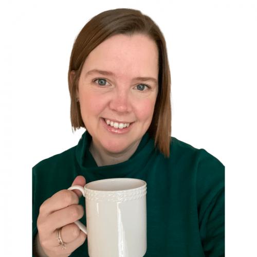 Grace Hamrick with coffee mug