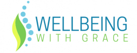 Wellbeing with Grace white logo