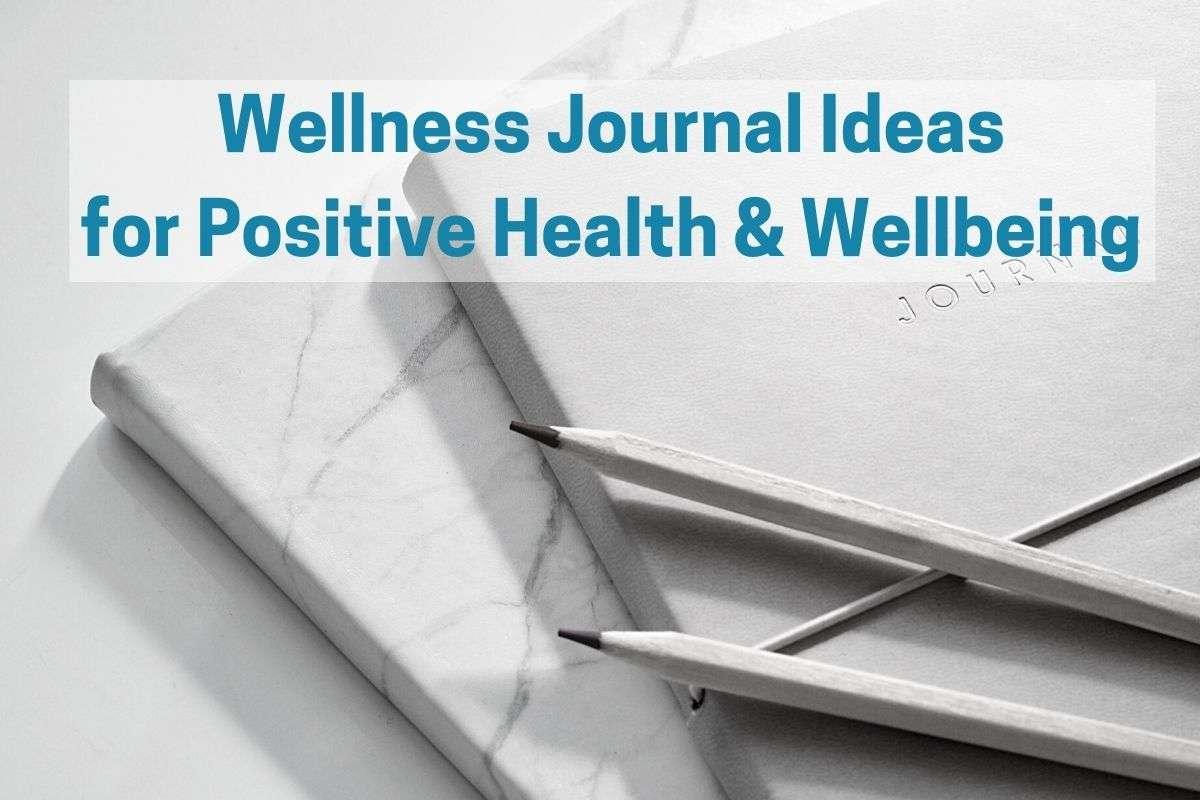 Wellness journal with pencils